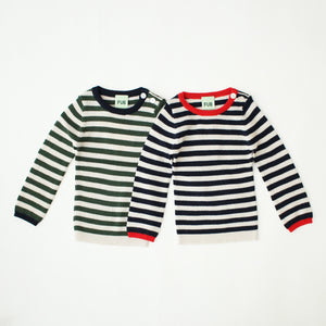 ボーダーリブニット 68.74.80.86cm BABY STRIPE RIB SWEATER(1154,1156)