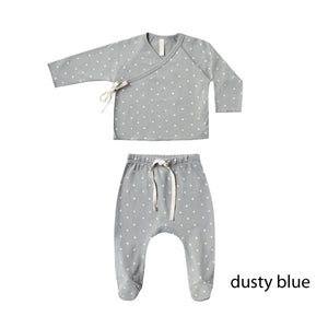 セット 3-6m Kimono Top+Footed Pants SET