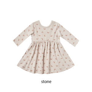 【セール対象外】ワンピース 6-12m.12-18m.18-24m.2-3y Ribbed Longsleeve Dress