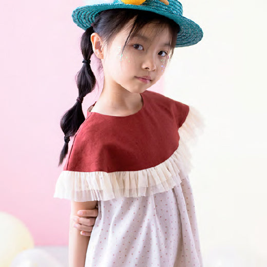 【more sale 50%off】ワンピース 4y~7y Polka dots yoke dress