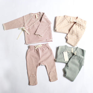 【セール対象外】セット 3-6m Kimono Top+Footed Pants SET