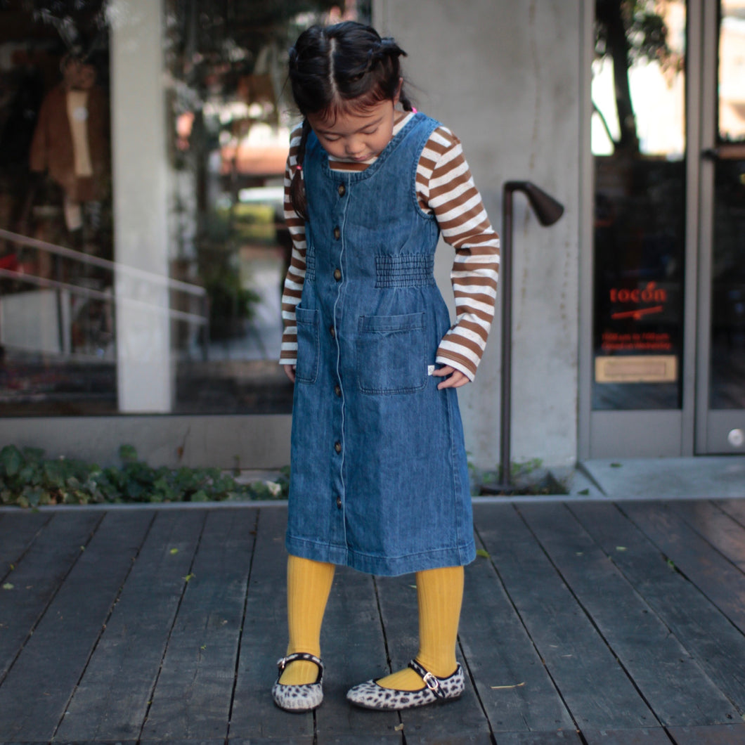 sale 40%off エプロンドレス 6.8y Long Line Pinafore(1119)