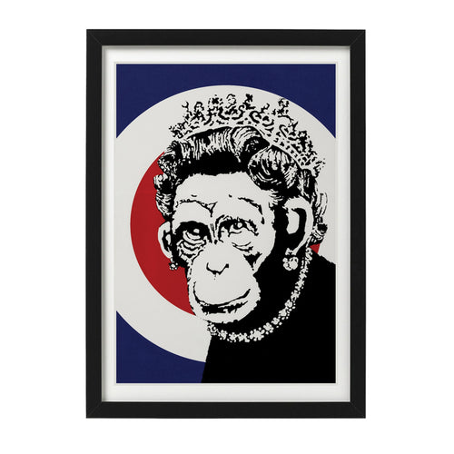 Banksy-monkey-queen-limited-edition-unsigned-screenprint-Limn-Gallery