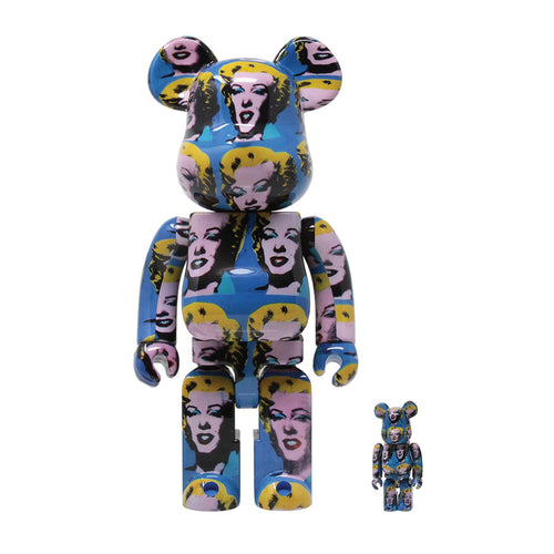 Bearbrick-andy-warhol-marilyn-2020-medicom-400-100-set-Limn-Gallery-nz