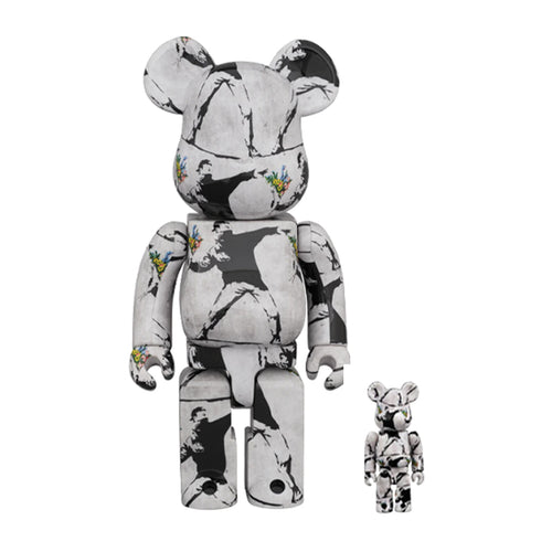 Bearbrick-flower-bomber-banksy-2020-medicom-400-100-set-Limn-Gallery-nz