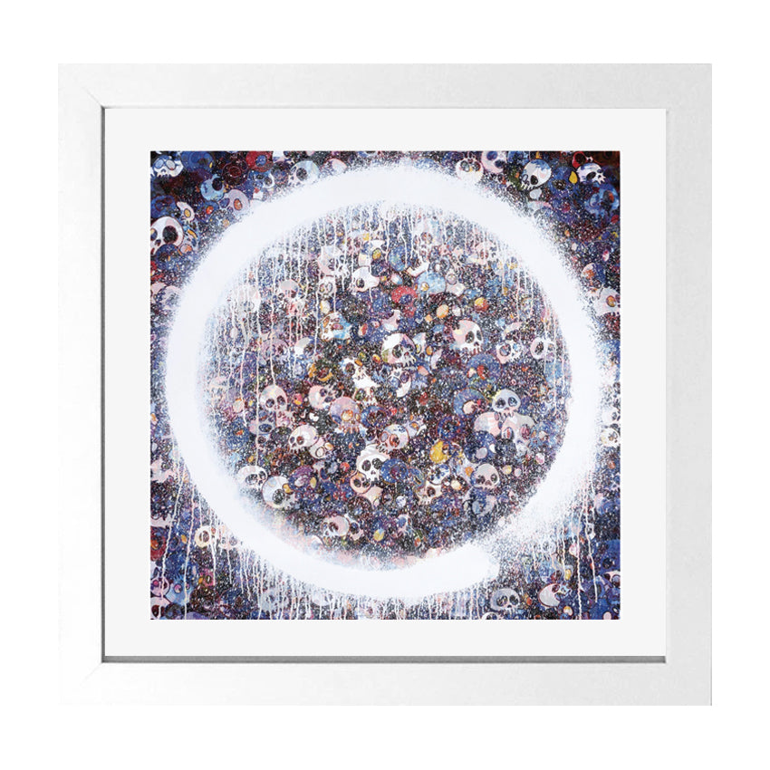 Enso Memento Mori Red on blue limited edition print Takashi Murakami Limn Gallery