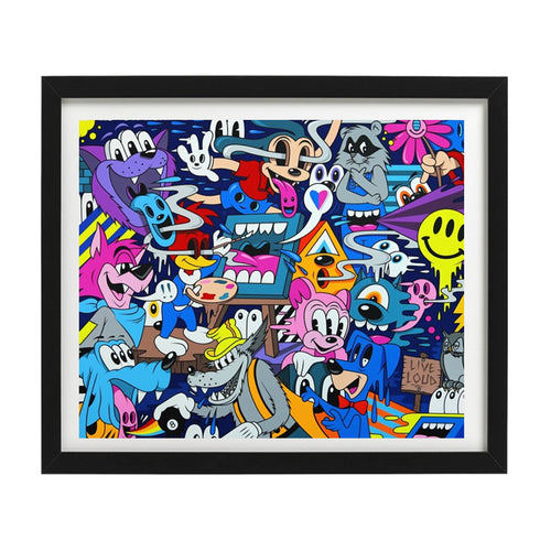 Every day counts Limited edition print Greg Mike Loud Mouf Limn Gallery NZ
