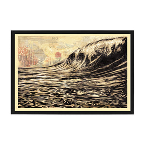 dark wave open edition signed print OBEY Shepard Fairey Limn Gallery