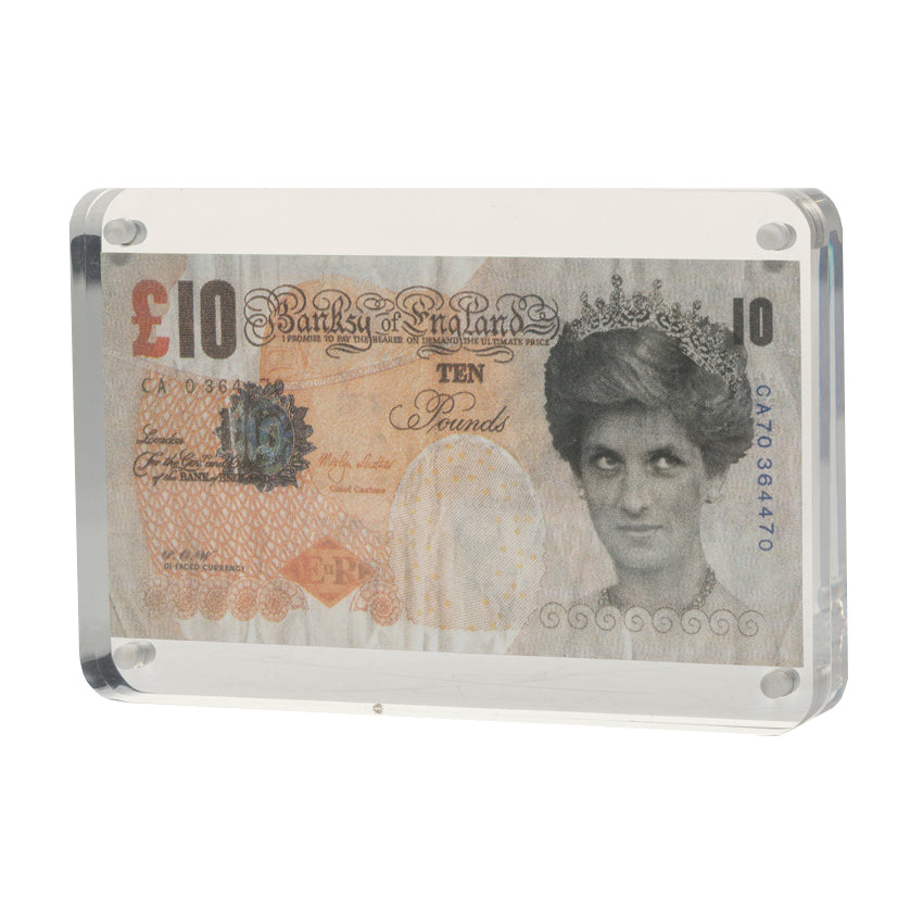 di-faced tenner print banksy Limn Gallery