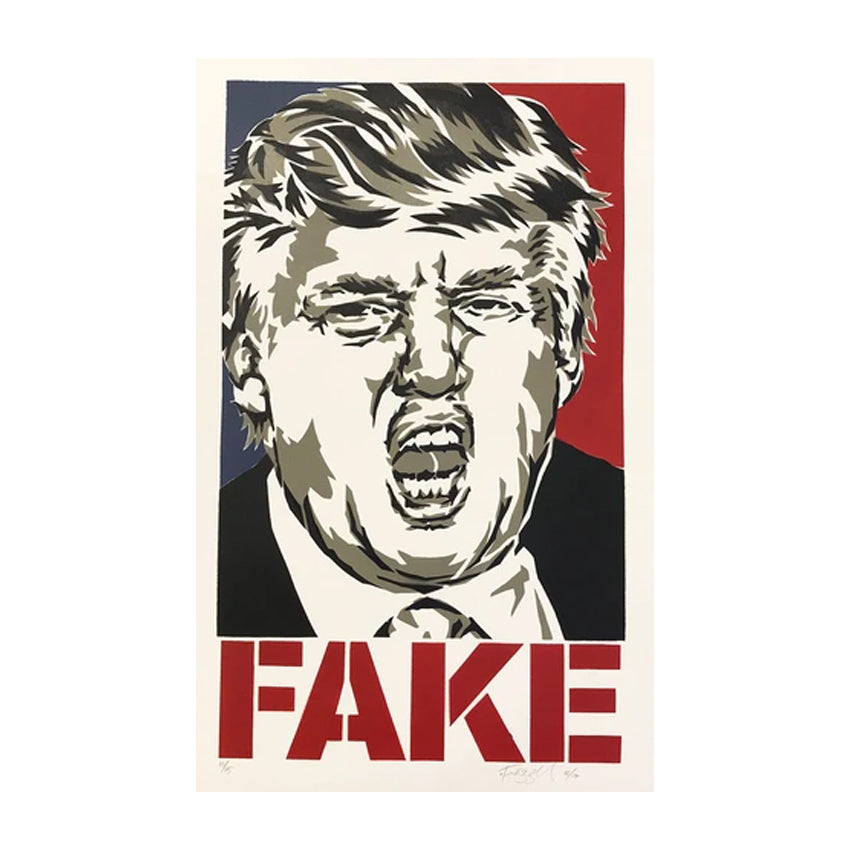 fake donald trump limited edition print otis frizzell Limn Gallery nz