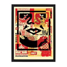 Load image into Gallery viewer, three face collage bottom open edition print OBEY Shepard Fairey Limn Gallery