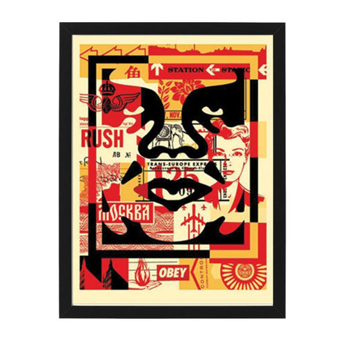 three face collage middle open edition print OBEY Shepard Fairey Limn Gallery