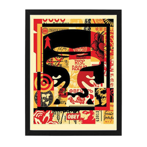 three face collage top open edition print OBEY Shepard Fairey Limn Gallery