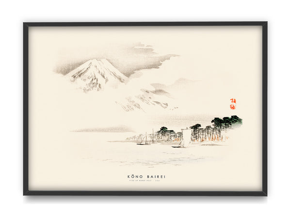 Kōno Bairei - View of Mount Fuji