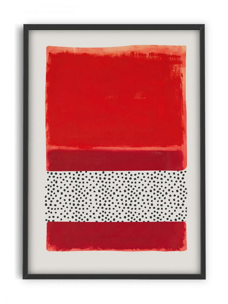 Abstract Modern Art - Red