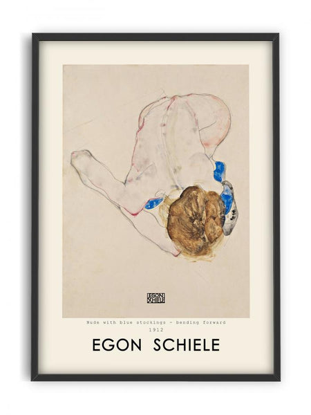 Egon Schiele - Woman with blue stockings