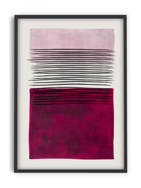 Abstract modern art Deep purple