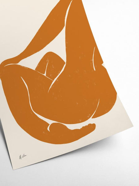 Henri Matisse Inspired - Nu Orange - Michelle