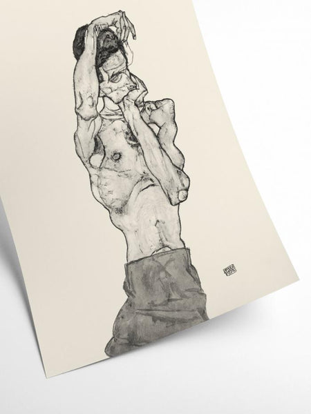 E. Schiele - Self portrait