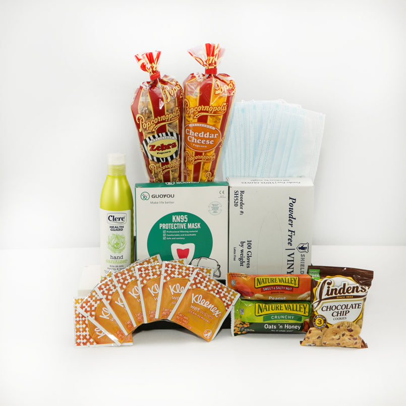 PPE Essentials and Snack Kit - GiftBasket.com - Care Package