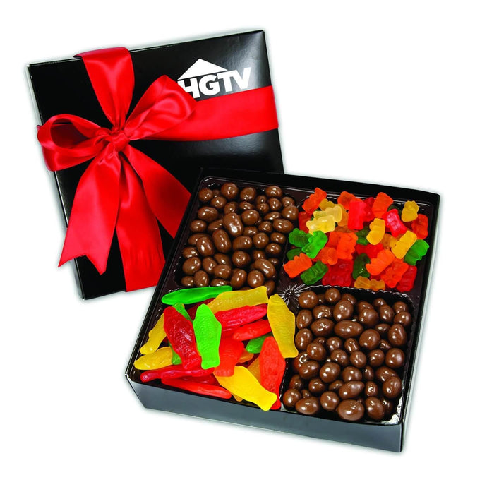 4 Delights Gift Box with Gourmet Confections - GiftBasket.com - Promotional