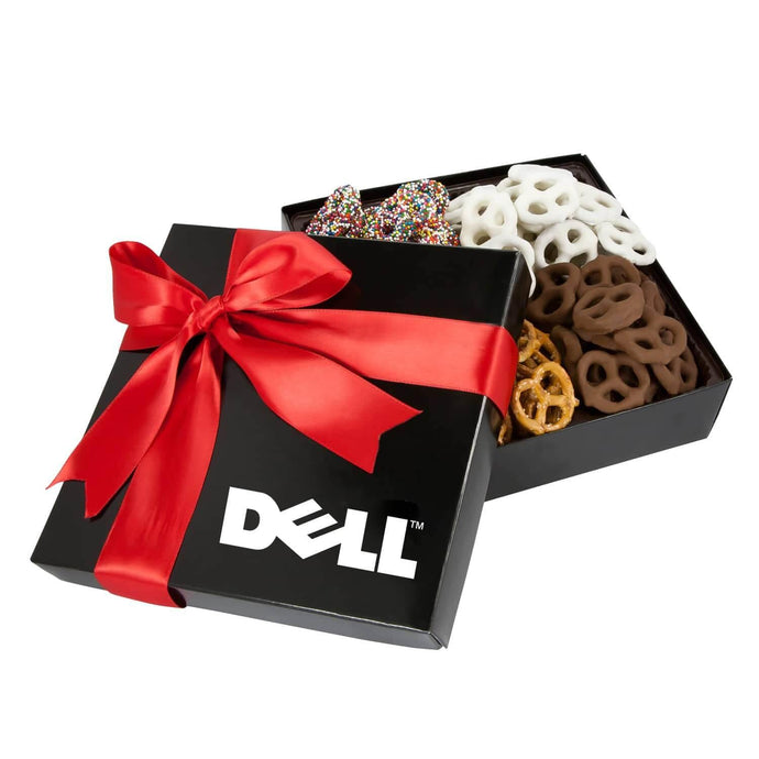4 Delights Gift Box with Assorted Mini Pretzels - GiftBasket.com - Promotional