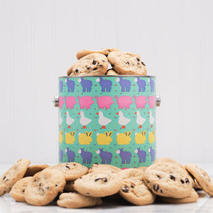 Baby Animal New Baby Cookie Tin - GiftBasket.com - Gift Tin