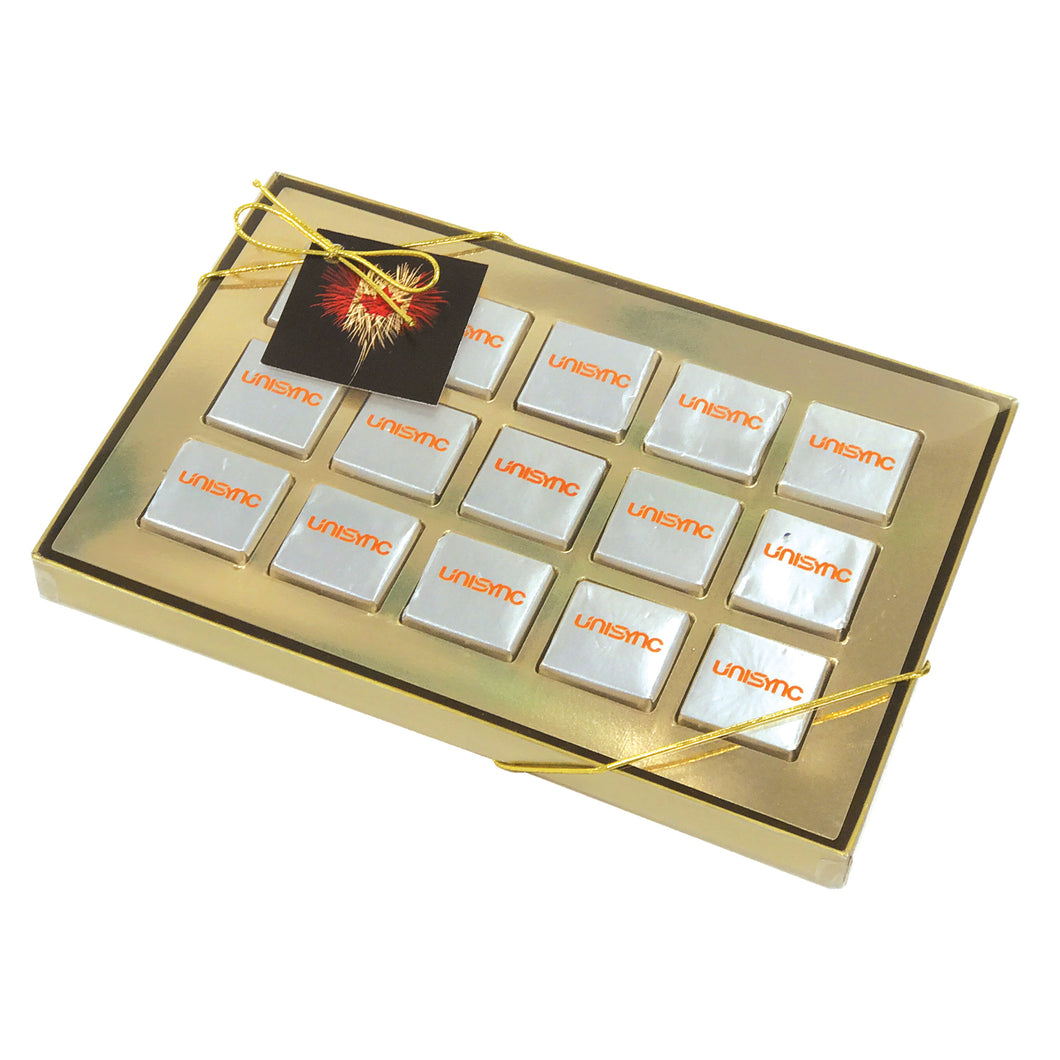Fifteen Piece Chocolate Foiled Square Box
