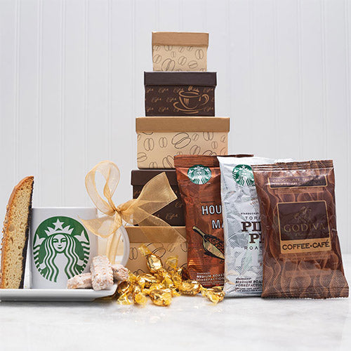 Coffee Lovers Delight Tower - GiftBasket.com - Gift Tower