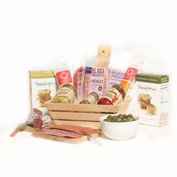 Ultimate Cured Meat & Antipasto Gift Basket - GiftBasket.com - Gift Basket