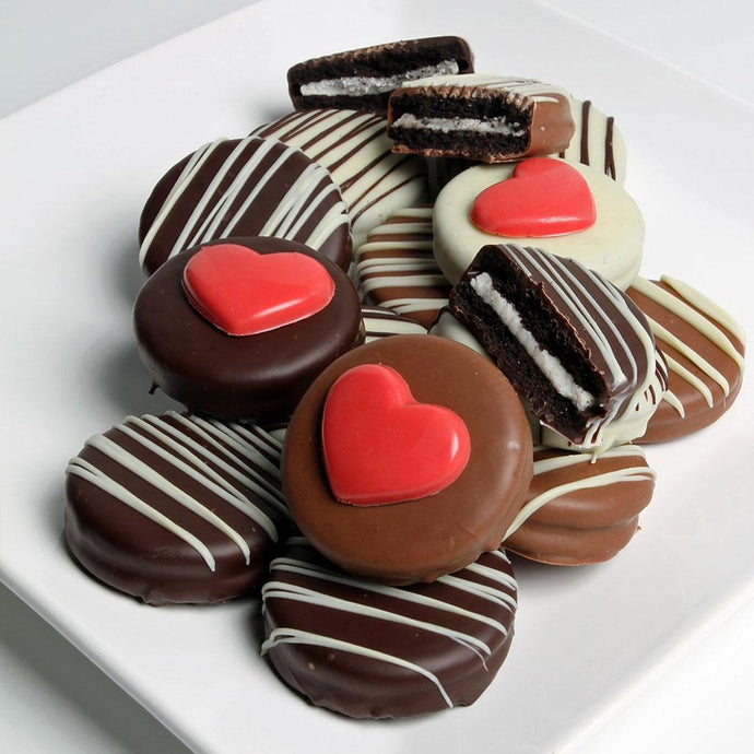 Heart Classic Belgian Chocolate Sandwich Cookies