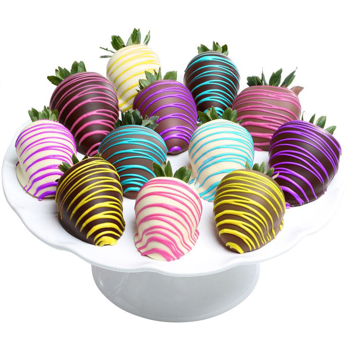 Spring Colors Belgian Chocolate Covered Strawberries