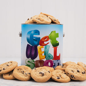 Get Well Soon Cookie Tin- 1 Gallon - GiftBasket.com - Gift Tin