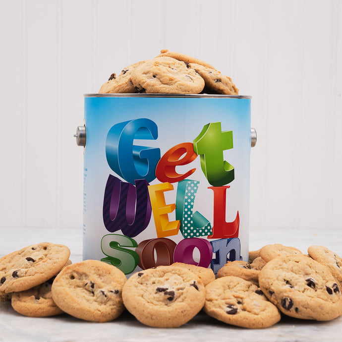 Get Well Soon Cookie Tin- 1 Gallon