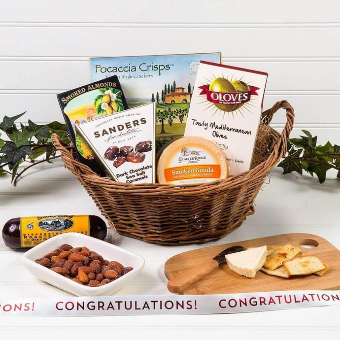 A Day at The Vineyard Congratulations Gift Basket - GiftBasket.com - Gift Basket