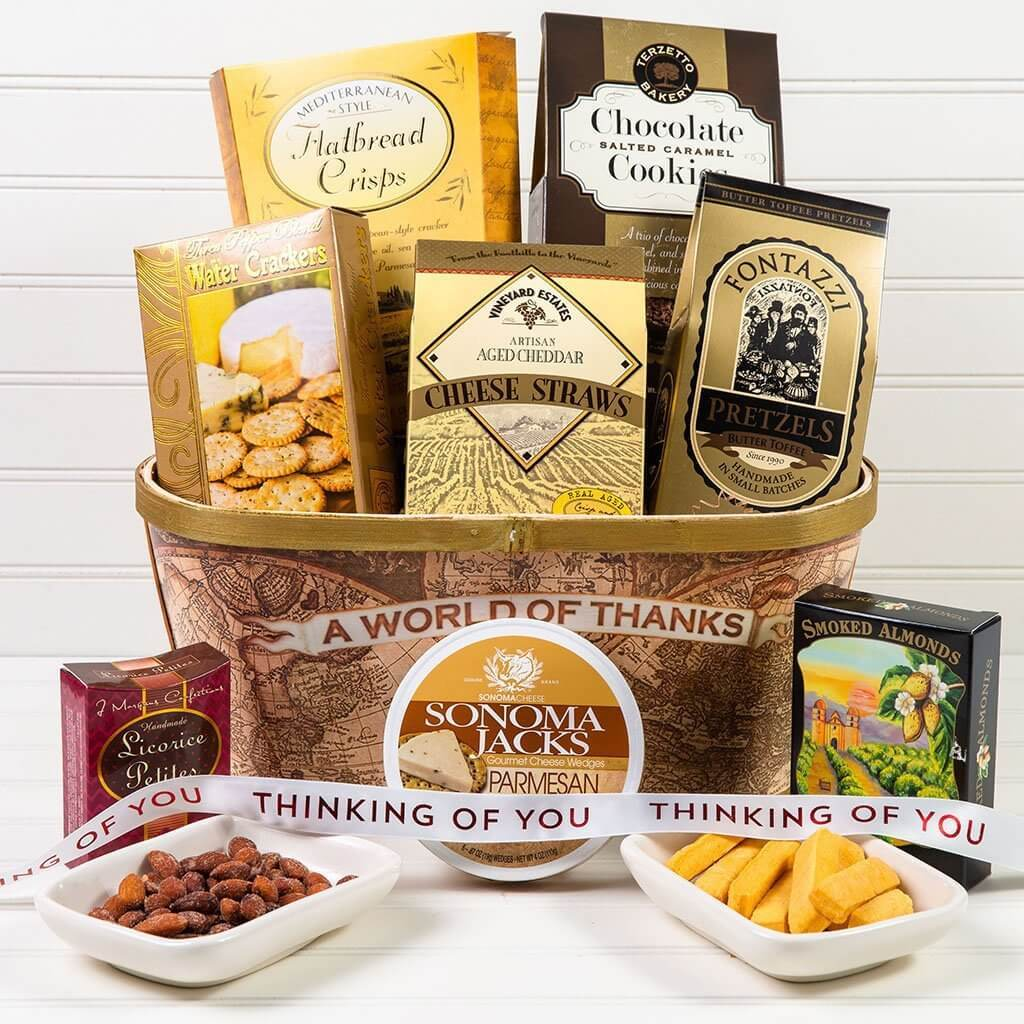 A World of Thanks! Thinking of You Gift Basket - GiftBasket.com - Gift Basket