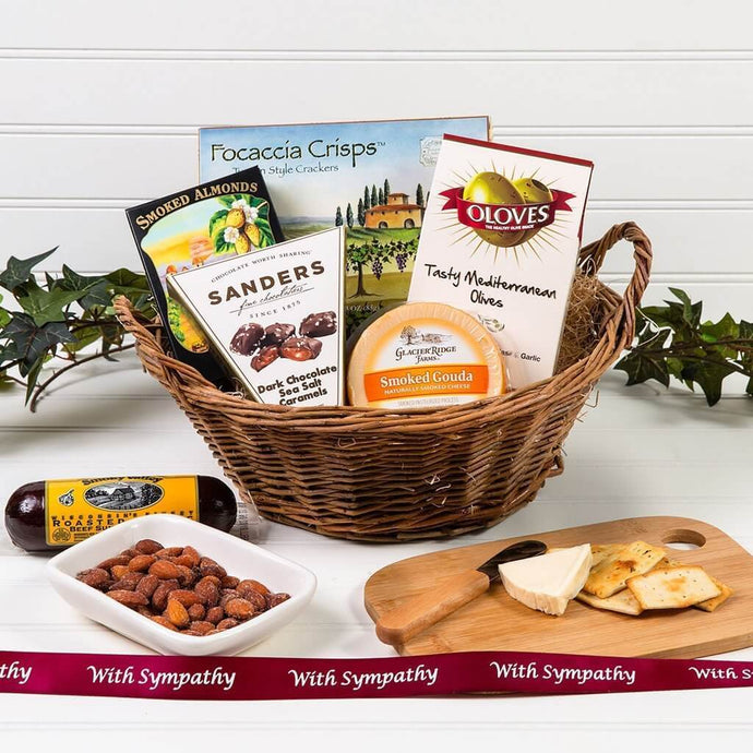A Day at The Vineyard Sympathy Gift Basket - GiftBasket.com - Gift Basket