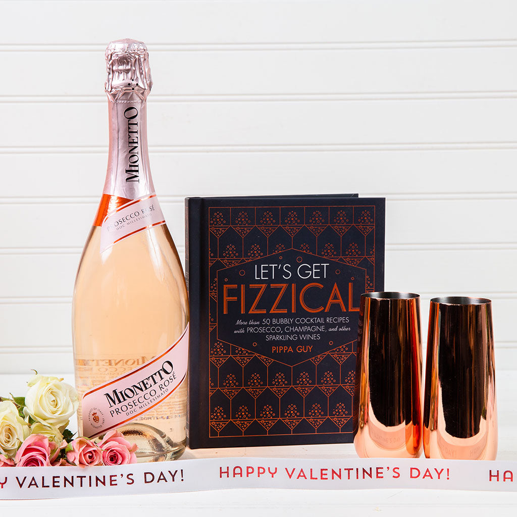 Don't Make Me Blush Sparkling Wine Set - GiftBasket.com - Gift Set