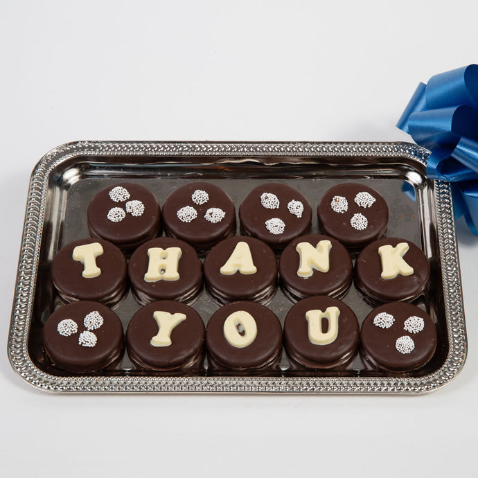Thank You Belgian Chocolate Covered Oreo Cookies - GiftBasket.com - Gift Box