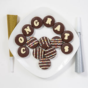Congrats Belgian Chocolate Covered Oreo Cookies - GiftBasket.com - Gift Box