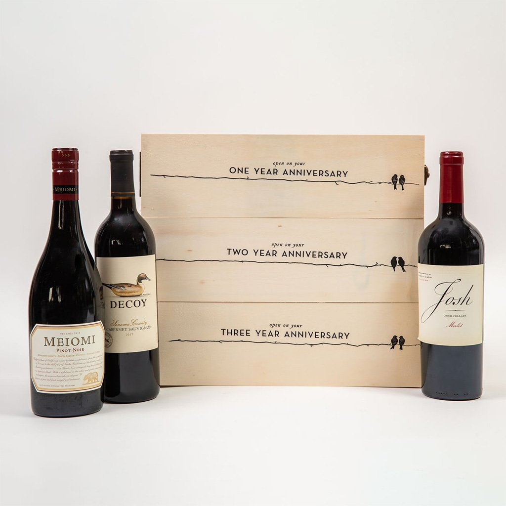 Wine Gift Basket - To The Years To Come, Happy Anniversary Wine Gift Set by GiftBasket.com