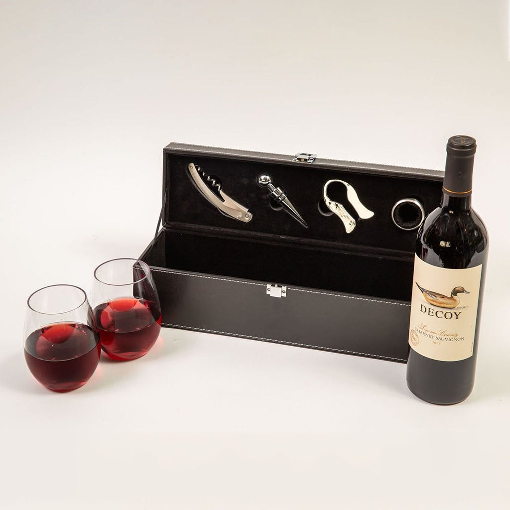 For the Love of Wine Red Wine Gift Set With Decoy by GiftBasket.com