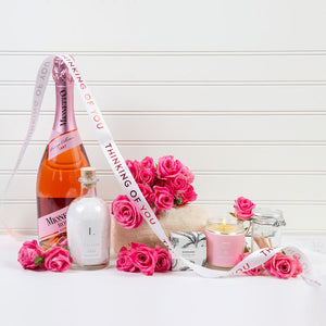 Floating In Flowers Thinking of You Wine Spa Set - GiftBasket.com - Gift Set