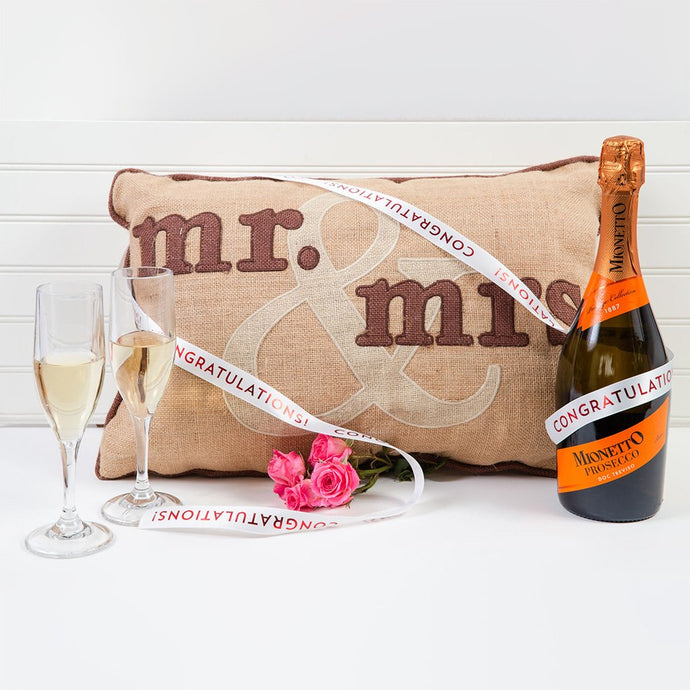 Mr. & Mrs. Prosecco Celebration Congratulations Set