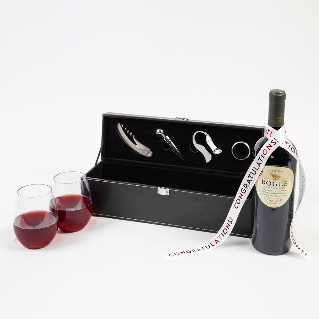 For the Love of Wine Red Wine Congratulations Gift Set - GiftBasket.com - Gift Set