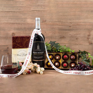 Red Wine Truffles Thank You Pairing - GiftBasket.com - Gift Set