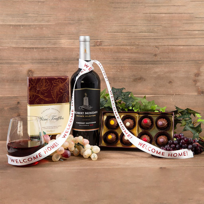 Red Wine Truffles Welcome Home Pairing - GiftBasket.com - Gift Set