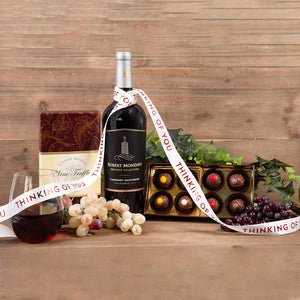 Red Wine Truffles Thinking of You Pairing - GiftBasket.com - Gift Set
