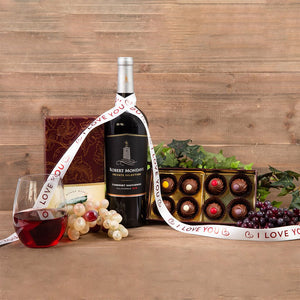 Red Wine Truffles I Love You Pairing - GiftBasket.com - Gift Set