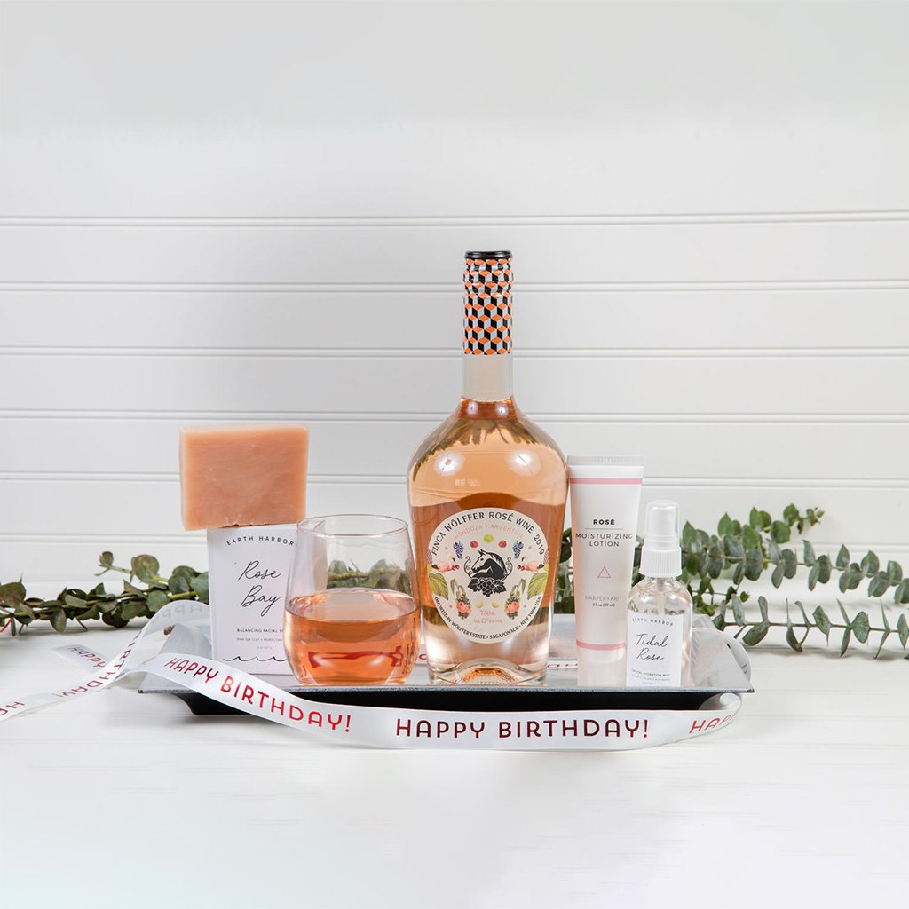 Yes Way Rosé Happy Birthday - GiftBasket.com - Gift Set